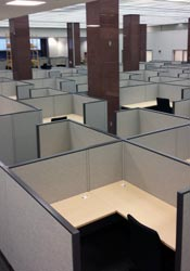 Photo of a cubicle installation